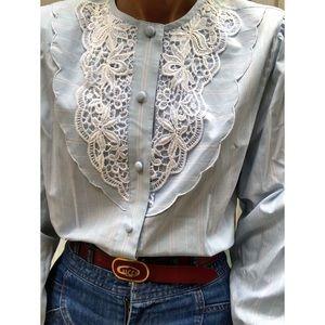 Vintage bib blouse